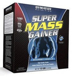 Super Mass Gainer-Vanilla 12lb (4per case) (Dymatize)